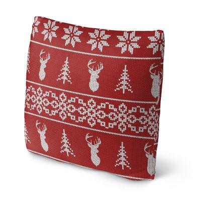Deer Deer Deer Outdoor Throw Pillow Size: 16 x 16