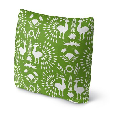 Kaivhon Outdoor Throw Pillow Size: 18 x 18, Color: Green