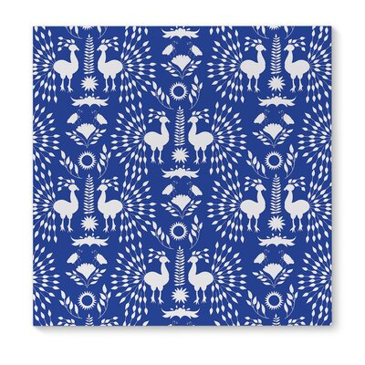 'Christmas Scandinavian' Graphic Art Print on Canvas in Blue Size: 12