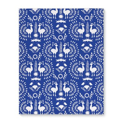 'Christmas Scandinavian' Graphic Art Print on Canvas in Blue Size: 10