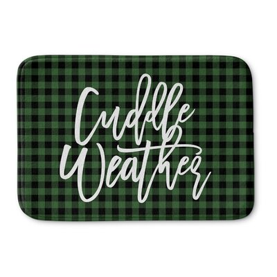 DeAngelo Cuddle Weather Memory Foam Bath Rug Color: Green/ Black, Size: 0.75 H x 36 W  x 24 D