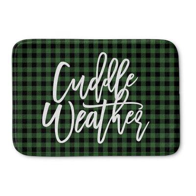 DeAngelo Cuddle Weather Memory Foam Bath Rug Color: Green/ Black, Size: 0.75 H x 24 W  x 17 D