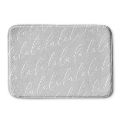 Falala Memory Foam Bath Rug Color: Dark Grey, Size: 0.75 H x 36 W  x 24 D