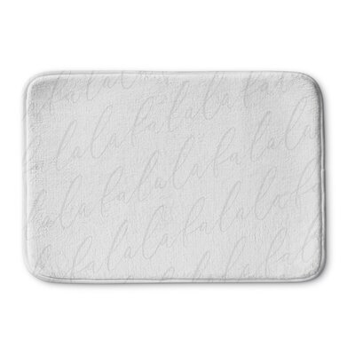 Falala Memory Foam Bath Rug Color: Light Grey, Size: 0.75 H x 36 W  x 24 D