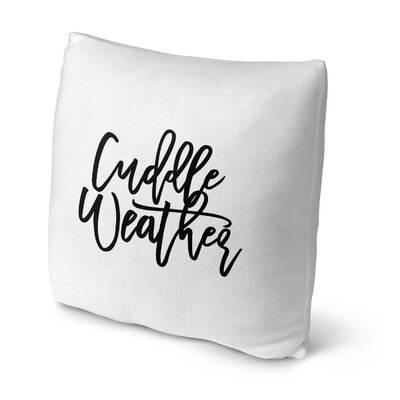Sheneza Cuddle Weather Outdoor Throw Pillow Size: 16 x 16