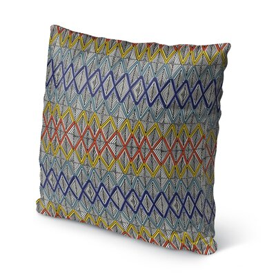 Fenster Geometric Outdoor Throw Pillow Size: 16 x 16