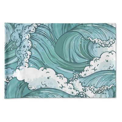 Richelle Wave Pillow Case Size: 20 H x 30 W