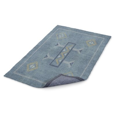 Stellan Blue/Yellow Area Rug Rug Size: Rectangle 5 x 7