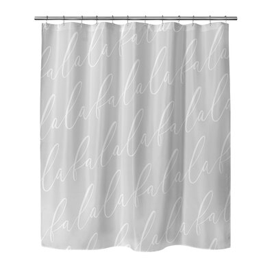 Beaird Shower Curtain Color: Dark Grey, Size: 90 H x 70 W