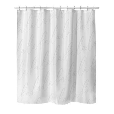 Beaird Shower Curtain Color: Light Grey, Size: 90 H x 70 W