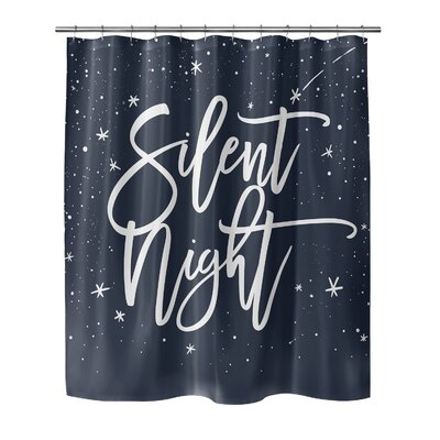 Chauvin Silent Night Shower Curtain Color: Blue/ White, Size: 72 H x 70 W