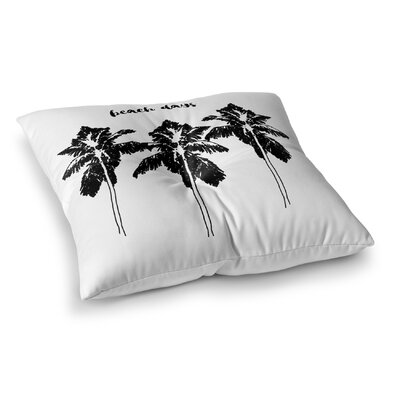 Beach Days Square Floor Pillow Size: 23 H x 23 W x 9.5 D