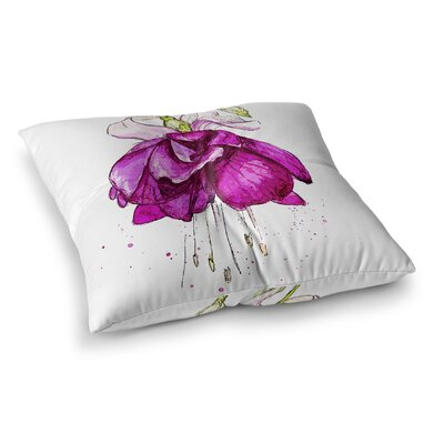 Draping Flower Square Floor Pillow Size: 23 H x 23 W x 9.5 D