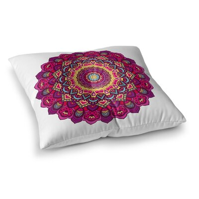 Floral Square Floor Pillow Size: 26 H x 26 W x 12.5 D