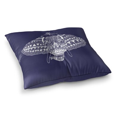 Majestic Elephant Square Floor Pillow Size: 23 H x 23 W x 9.5 D