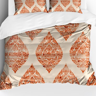 Lely Resort Accent Lightweight Comforter Color: Orange/Ivory, Size: Queen
