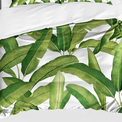 Pallavi Banana Leaves Lightweight Comforter Size: Queen
