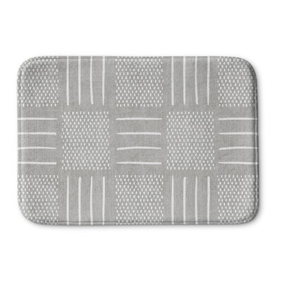 Couturier Memory Foam Bath Rug Size: 17 W x 24 L, Color: Grey
