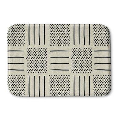 Couturier Memory Foam Bath Rug Size: 17 W x 24 L, Color: Ivory