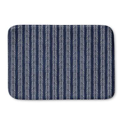 Couturier Memory Foam Bath Rug Size: 17 W x 24 L, Color: Indigo