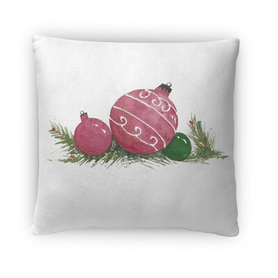 Christmas Balls Outdoor Square Throw Pillow (Set of 10) Size: 18 H x 18 W