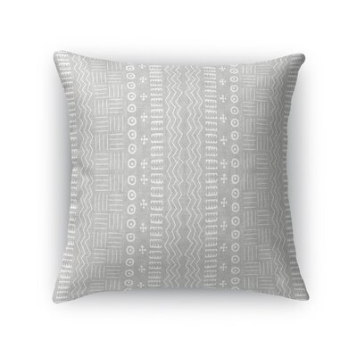 Couturier Geometric Throw Pillow Color: Grey, Size: 16 H x 16 W