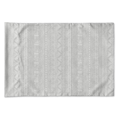 Couturier Geometric Single-sided Pillow Case Size: King, Color: Grey