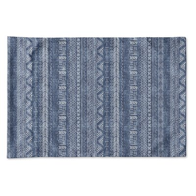 Couturier Geometric Single-sided Pillow Case Size: King, Color: Indigo