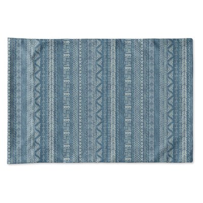 Couturier Geometric Single-sided Pillow Case Size: King, Color: Teal