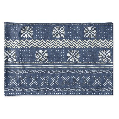 Couturier Geometric Pillow Case Size: King, Color: Indigo