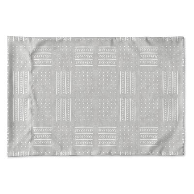 Couturier Geometric Woven Pillow Case Size: King, Color: Grey
