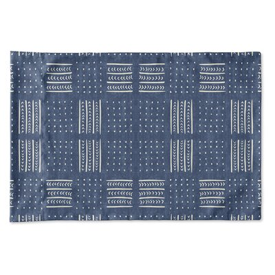 Couturier Geometric Woven Pillow Case Size: King, Color: Indigo