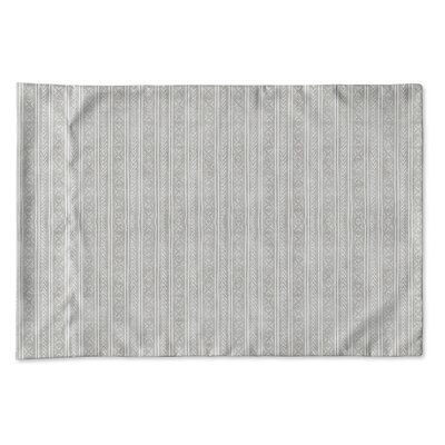 Couturier Single-sided Woven Pillow Case Size: King, Color: Grey