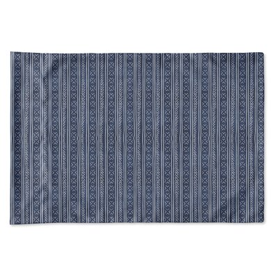Couturier Single-sided Woven Pillow Case Size: King, Color: Indigo
