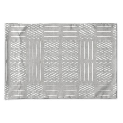 Couturier Single-sided Pillow Case Size: King, Color: Grey