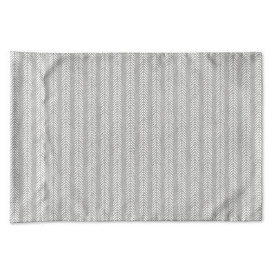 Couturier Woven Pillow Case Size: King, Color: Grey