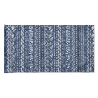 Couturier Geometric Single-sided Pillow Case Size: Queen, Color: Indigo
