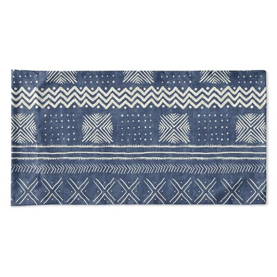 Couturier Geometric Pillow Case Size: Queen, Color: Indigo