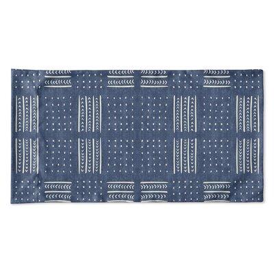Couturier Geometric Woven Pillow Case Size: Queen, Color: Indigo