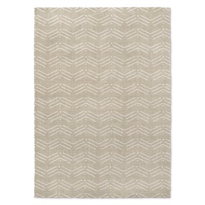 Cream/White Area Rug Rug Size: Rectangle 3 x 5