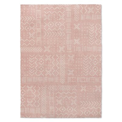Inspired Blush/White Area Rug Rug Size: Rectangle 2' x 3'