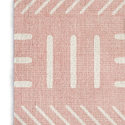 Grosso Pink Area Rug Rug Size: Rectangle 8 x 10