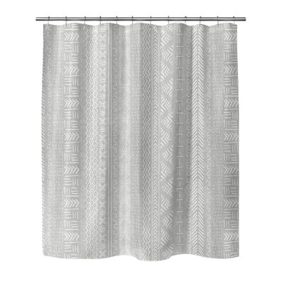 Couturier Woven Shower Curtain Color: Grey, Size: 90 H x 70 W x 0.1 D