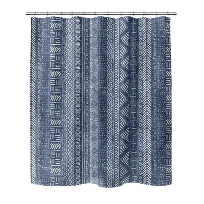 Couturier Woven Shower Curtain Color: Indigo, Size: 72 H x 70 W x 0.1 D