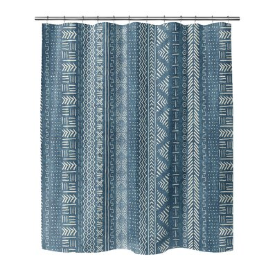 Couturier Woven Shower Curtain Color: Teal, Size: 72 H x 70 W x 0.1 D