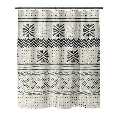 Couturier Woven Shower Curtain Color: Ivory, Size: 90 H x 70 W x 0.1 D