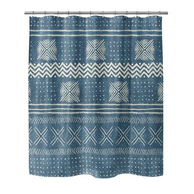 Couturier Woven Shower Curtain Color: Teal, Size: 90 H x 70 W x 0.1 D