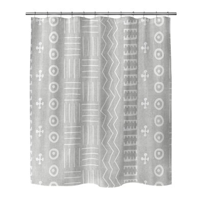 Couturier Shower Curtain Color: Grey, Size: 90 H x 70 W x 0.1 D
