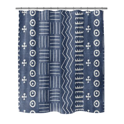 Couturier Shower Curtain Color: Indigo, Size: 90 H x 70 W x 0.1 D