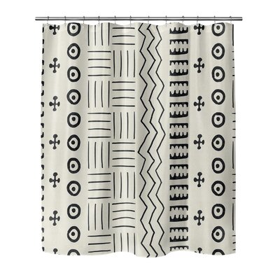 Couturier Shower Curtain Color: Ivory, Size: 90 H x 70 W x 0.1 D